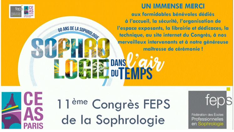 Fédération des Ecoles Professionnelles de Sophrologie : Le congrès 2021