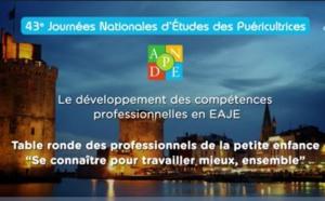 Table ronde autour du développement des compétences professionnelles en EAJE - ANPDE La Rochelle 2018