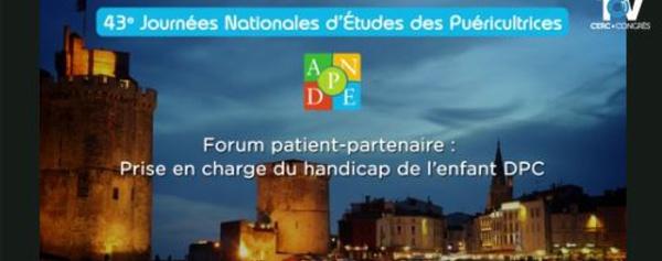 Forum patient partenaire - ANPDE La Rochelle 2018