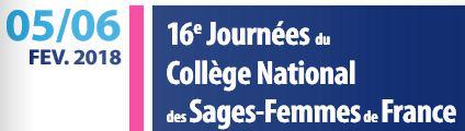 16èmes Journées du Collège National des Sages-Femmes de France à Issy-les-Moulineaux les 05 & 06 février 2018