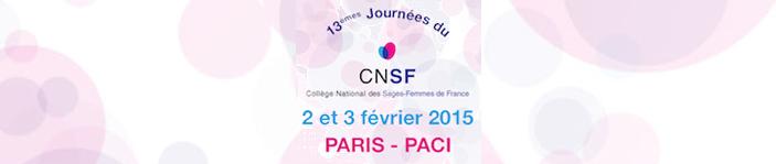 13èmes journées du CNSF - Paris 2 et 3 février 2015