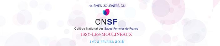 14èmes Journées du Collège National des Sages-Femmes de France à Issy-les-Moulineaux les 1 & 2 février 2016